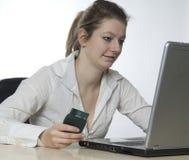 Operação bancária do Internet Fotos de Stock