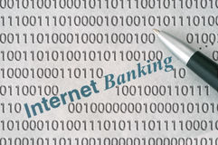 Operação bancária do Internet Imagem de Stock