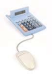 Operação bancária e cálculos em linha imagem de stock