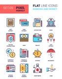 Operação bancária e dinheiro ilustração stock