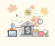 Operação bancária e negócio Mercado financeiro Fixe transações e proteção dos pagamentos, a segurança da garantia de financeiro Foto de Stock Royalty Free