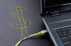 Operação bancária eletrônica Imagens de Stock Royalty Free