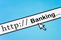 Operação bancária em linha imagens de stock royalty free