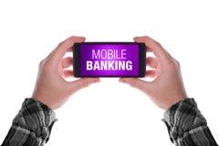 Operação bancária móvel Fotografia de Stock