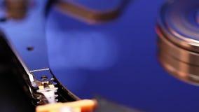 Operação da movimentação de disco rígido video estoque