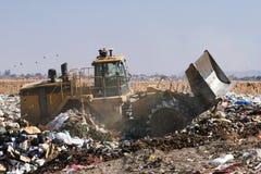 Operação de descarga do lixo Imagem de Stock