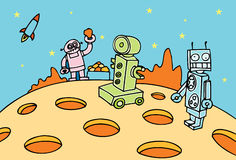 Operação de mineração do robô Imagens de Stock