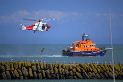 Operação de serviço Reino Unido do salvamento da guarda costeira Imagens de Stock Royalty Free