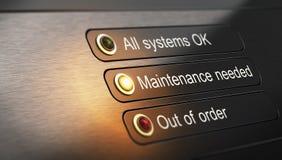 Operações da manutenção e do reparo necessários Fotografia de Stock