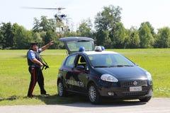 operações da segurança do Anti-terrorismo em Itália Fotografia de Stock