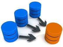Operações do armazém de dados ilustração stock