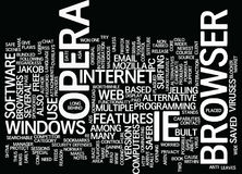 The Opera Alternative Text Background Word Cloud Concept Stock Images
