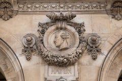Opera architektoniczni szczegóły Obywatel De Paryż Uroczystej opery Garnier pałac jest sławnym baroku budynkiem w Paryż obraz stock