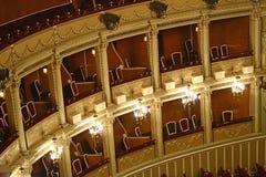 Opera Balcony. Inside An Opera : Balconies For The Audience Stock Photos