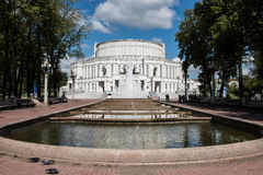 Opera and Ballet Theater in Minsk Stock Photo