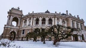 Opera and Ballet Theater of Odessa, Ukraine stock photo