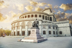 Opera and Ballet Theater Yerevan. State Academic Opera and Ballet Theater of Armenia Royalty Free Stock Photography