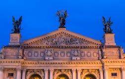 Opera and Ballet Theatre in Lviv (Ukraine) Stock Photos