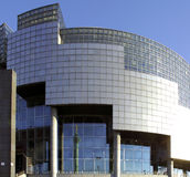 Opera of Bastille. France, Paris: nice view of the famous Bastille opera; blue sky and modern architecture stock photos