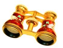 Opera binoculars. Antique gold opera binoculars with pearl trim Stock Images
