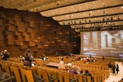 Opera building. Lisinski in Zagreb, The Metropolitan opera show. Shot in Zagreb on 16.1.2010 Stock Image