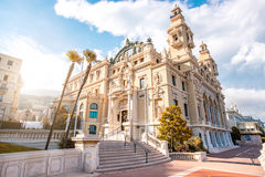 Opera building in Monaco. Famous Opera building in Monte Carlo on the French riviera in Monaco stock photography