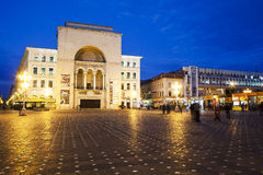 Opera building timisoara. Opera building and Victory square at night, Timisoara, Romania Royalty Free Stock Images