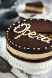 Opera cake Royalty Free Stock Image