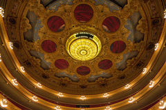 Opera ceiiling. View on the ceiling of Gran Teatre del Liceu, opera in Barcelona Royalty Free Stock Photo
