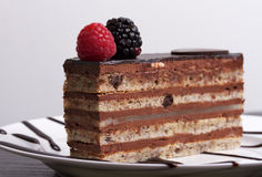 Opera Chocolate Cake Royalty Free Stock Photo