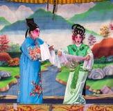 Opera cinese, attori nella prestazione Immagini Stock