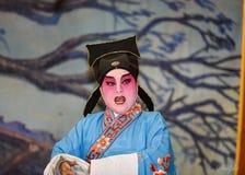 Opera cinese, attori nella prestazione Fotografie Stock