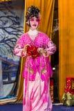 Opera cinese, attori nella prestazione Fotografia Stock Libera da Diritti