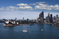 Opera City Sail Boats Royalty Free Stock Images