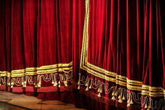 Opera closed curtains Stock Photo
