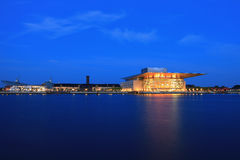 Opera Copenhagen. Modern Copenhagen opera house at night Royalty Free Stock Photos