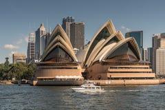 Opera czołowy widok z wody, Sydney Australia Zdjęcia Stock