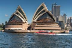 Opera czołowy widok z wody, Sydney Australia Obraz Stock