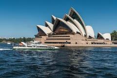 Opera czołowy widok z wody, Sydney Australia Zdjęcie Stock