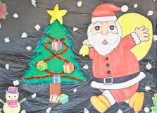 Opera d'arte del Babbo Natale Fotografie Stock Libere da Diritti