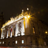 Opera de Lille na noite Imagens de Stock