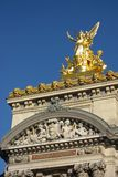Opera de Paris Garnier. Detail of the Facade Opera de Paris Garnier Stock Photo