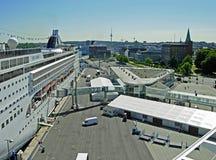 Opera del MSC della nave da crociera al terminale di crociera a Kiel Fotografia Stock