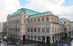 Opera dello stato di Vienna o salciccia Staatsoper in Austria Fotografia Stock Libera da Diritti