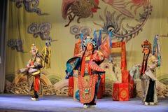Opera di Pechino: Conflitto di Chu Han Fotografia Stock Libera da Diritti
