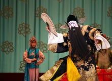 Opera di Pechino - il cavallo galoppante dai capelli rosso fotografia stock libera da diritti
