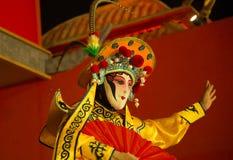 Opera di Sichuan, il fronte cambiante dell'opera di Sichuan cambiamento del fronte di ballo del cinese Immagine Stock Libera da Diritti