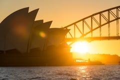 opera domowy zmierzch Sydney Zdjęcie Royalty Free