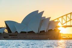 opera domowy zmierzch Sydney Fotografia Stock