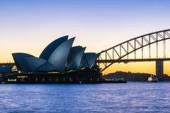 opera domowy zmierzch Sydney Zdjęcie Stock